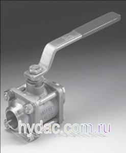 Приварной шаровый кран низкого давления KHM3S, нержавеющая сталь